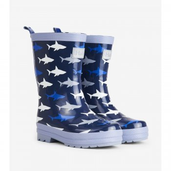 Hatley Сапоги резиновые (темно-синий с акулами) hatley сапоги резиновые белый с сердцами