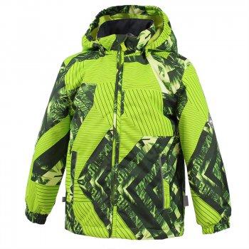 Куртка JODY (салатовый с принтом)Куртки<br>Яркая и практичная куртка от Huppa подойдет для холодной и дождливой весны (100 г утеплителя и высокий показатель водонепроницаемости 10 000 мм). <br>Модель имеет просторный крой, сзади слегка удлиненная.<br>Манжеты на резинке защитят от ветра, а также не дадут рукавам болтаться, если куртка слегка великовата. <br>Для защиты ребенка капюшон держится на кнопках, а на самой куртке расположено множество светоотражающих элементов. <br><br>  капюшон отстегивается с помощью кнопок, защита подбородка от защемления , карманы без застежек, манжеты на резинке,  утяжка по подолу, светоотражающие элементы.  <br> Верх: 100% полиэстер.<br> Утеплитель: 100 грамм (100% полиэстер).<br> Подкладка: 100% полиэстер<br> Водонепроницаемость: 10000 мм. <br> Паропроводимость: 10000 г/м2/24ч<br> Износостойкость: нет данных.<br> Производитель: HUPPA (Эстония).<br> Страна производства: Эстония.<br> Модель производится в размерах: 80-152<br> Коллекция: Весна/Лето 2018.<br><br> Температурный режим <br>  от 0 до +10 градусов<br>; Размеры в наличии: 92, 98, 104, 110, 116, 122, 128, 134, 140, 146, 152.<br>