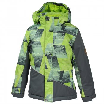 Куртка ALEX (серо-зеленый с принтом) от Huppa, арт: 44471 - Одежда