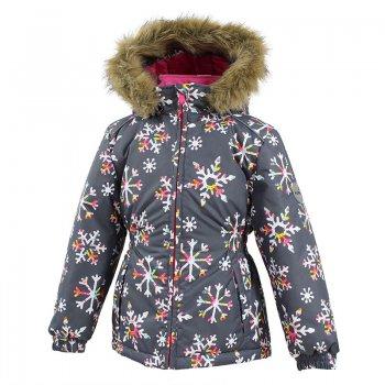 Куртка MARII (серый со снежинками)Куртки<br>Описание: <br>Зимняя куртка для девочек. Модель из комплекта WONDER, арт. 41950030. Универсальный вариант для школы, города или долгих прогулок на природе. Благодаря верхней мембранной ткани и современному синтетическому утеплителю отлично греет и не пропускает влагу, снег и ветер. Приталенный крой и пояс на резинке делают эту модель более изящной, а также обеспечивают дополнительную защиту от холода. Теплый капюшон дополнен опушкой из искусственного меха. При желании капюшон снимается. Светоотражающие элементы повышают безопасность ребенка при нахождении на улице.<br>Функциональные элементы: капюшон отстегивается, искусственный мех на капюшоне (не отстегивается), 2 врезных кармана без застежек, светоотражатели.Характеристики: <br>Верх: 100% полиэстер.<br>Утеплитель: 300 грамм (100% полиэстер).<br>Подкладка: 100% полиэстер<br>Водонепроницаемость: 10000 мм.<br>Паропроводимость: 10000 г/м2/24ч.<br>Износостойкость: нет данных.<br>Производитель: HUPPA (Эстония).<br>Страна производства: Эстония.<br>Коллекция: Осень-Зима 2017.<br>Температурный режим: <br>от -5  до -30 градусов.<br>; Размеры в наличии: 98, 104, 110, 116, 122, 128, 134, 140.<br>