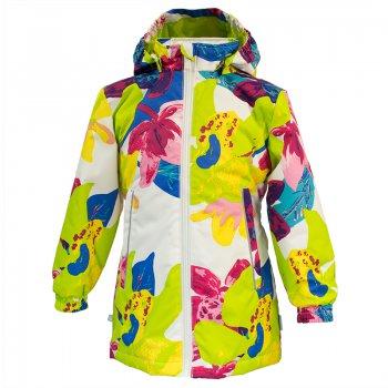 Куртка JUNE (белый с лилиями)Куртки<br>Описание: <br>Удлиненная приталенная куртка для девочек от 2 до 13 лет (до роста 152 см). Минимальный набор функциональных элементов позволяет достичь оптимального сочетания цены и качества. Яркие цветочные расцветки создают весеннее настроение и несомненно понравятся даже самым капризным принцессам. А высокие показатели ткани отлично защищают от неблагоприятных погодных условий. Куртка отлично подойдет для повседневной носки на погоду от 0 до + 10 градусов. <br>Функциональные элементы:капюшон отстегивается с помощью кнопок, защита подбородка от защемления, карманы на молнии, манжеты на резинке, светоотражающие элементы. <br>Характеристики: <br>Верх: 100% полиэстер.<br>Утеплитель: 100 грамм (100% полиэстер).<br>Подкладка: 100% полиэстер<br>Водонепроницаемость: 10000 мм. <br>Паропроводимость: 10000 г/м2/24ч<br>Износостойкость: нет данных.<br>Производитель: HUPPA (Эстония).<br>Страна производства: Эстония.<br>Модель производится в размерах: 80-152<br>Коллекция: Весна/Лето 2018.<br>Температурный режим: <br>От 0 градусов и выше.; Размеры в наличии: 92, 98, 104, 110, 116, 122, 128, 134, 140, 146, 152.<br>