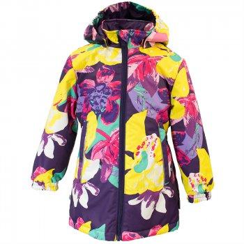 Купить со скидкой Куртка JUNE (фиолетовый с лилиями)
