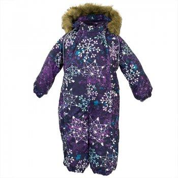 купить Huppa Комбинезон для малышей Keira (фиолетовый со снежинками) недорого