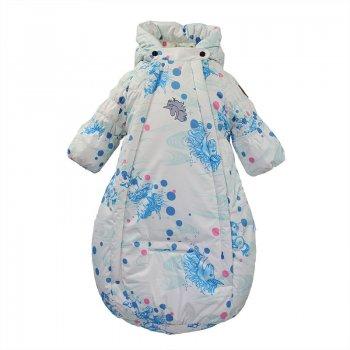 Конверт EDEN (белый с голубым)Одежда<br>; Размеры в наличии: 62, 68.<br>