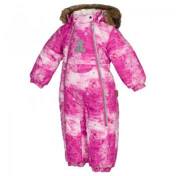 Комбинезон LOTUS (фуксия с медведем)Комбинезоны<br>Очень теплый и красивый зимний комбинезон из коллекции Huppa Fashion для маленьких модниц. Яркий стиль и неизменное качество Huppa. Мягкая мембранная ткань верха защищает от снега и ветра, мягкая подкладка с нежным рисунком сделана из натурального хлопка. У размеров 68-80 на рукавах и брючках есть специальные отвороты, с помощью которых можно закрыть ручки и ножки ребенка. Две молнии со светоотражающим кантом позволяют легко одевать ребенка.  Аппликация на груди в виде симпатичного медвежонка также выполнена из светоотражающего материала. Капюшон на кнопках украшает меховая опушка и меховые ушки-помпоны. А яркий принт цвета фуксии сделает вашу малышку самой нарядной на прогулке. <br><br>   капюшон отстегивается с помощью кнопок, мех отстегивается, карманы на липучке, манжеты на резинке, съемные силиконовые штрипки, светоотражающие элементы, две длинные молнии, отвороты.  <br> Верх: 100% полиэстер.<br> Утеплитель: 300 грамм (100% полиэстер).<br> Подкладка: 100% хлопок.<br> Водонепроницаемость: 5000 мм.<br> Паропроводимость: 5000 г/м2/24ч.<br> Износостойкость: нет данных.<br> Производитель: HUPPA (Эстония).<br> Страна производства: Эстония.<br> Коллекция: Осень-Зима 2017.<br><br> Температурный режим <br> от -5  до -30 градусов.<br>; Размеры в наличии: 68, 74, 80, 86.<br>
