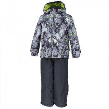 Комплект YOKO (серый с ящерицами)Комбинезоны<br>Описание: <br>С этим демисезонным комплектом можно не переживать за ребенка во время прогулок. Он утеплен (100 г утеплителя в куртке и 40 г в брюках) и имеет высокий показатель водонепроницаемости. Это означает, что можно гулять при температуре от 0 градусов и не бояться ни ветра, ни дождя и тающего снега. <br>В куртке предусмотрен безопасный капюшон на кнопках, а также резинки на манжетах и утяжка по подолу. <br>На полукомбинезоне имеются регулируемые лямки и молния для удобства одевания.<br>Комплект представлен во множестве ярких расцветок, осталось только выбрать!<br>Функциональные элементы:<br>Характеристики: <br>Верх: 100% полиэстер<br>Утеплитель: куртка - 100 грамм (100% полиэстер), полукомбинезон-40 грамм (100% полиэстер)<br>Подкладка: 100% полиэстер<br>Водонепроницаемость: 10000 мм<br>Паропроводимость: 10000 г/м2/24ч<br>Износостойкость: нет данных<br>Производитель: Huppa (Эстония)<br>Страна производства: Эстония<br>Модель производится в размерах 80-122<br>Коллекция: Весна/Лето 2018.<br>Температурный режим: <br>от 0 до +10 градусов<br>; Размеры в наличии: 80, 86, 92, 98, 104, 110, 116, 122.<br>