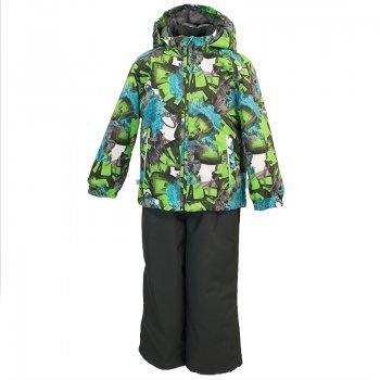 Комплект YOKO (зеленый с принтом)Комбинезоны<br>С этим демисезонным комплектом можно не переживать за ребенка во время прогулок. Он утеплен (100 г утеплителя в куртке и 40 г в брюках) и имеет высокий показатель водонепроницаемости. Это означает, что можно гулять при температуре от 0 градусов и не бояться ни ветра, ни дождя и тающего снега. <br>В куртке предусмотрен безопасный капюшон на кнопках, а также резинки на манжетах и утяжка по подолу. <br>На полукомбинезоне имеются регулируемые лямки и молния для удобства одевания.<br>Комплект представлен во множестве ярких расцветок, осталось только выбрать!<br><br>   Куртка: капюшон отстегивается с помощью кнопок, защита подбородка от защемления, карманы без застежек, манжеты на резинке, утяжка по подолу, светоотражающие элементы. Брюки: регулируемые лямки, пояс на резинке, подол штанин с утяжкой с фиксатором, светоотражающие элементы. <br> Верх: 100% полиэстер<br> Утеплитель: куртка - 100 грамм (100% полиэстер), полукомбинезон-40 грамм (100% полиэстер)<br> Подкладка: 100% полиэстер<br> Водонепроницаемость: 10000 мм<br> Паропроводимость: 10000 г/м2/24ч<br> Износостойкость: нет данных<br> Производитель: Huppa (Эстония)<br> Страна производства: Эстония<br> Модель производится в размерах 80-122<br> Коллекция: Весна/Лето 2018.<br><br> Температурный режим <br> от 0 до +10 градусов<br>; Размеры в наличии: 80, 86, 92, 98, 104, 110, 116, 122.<br>