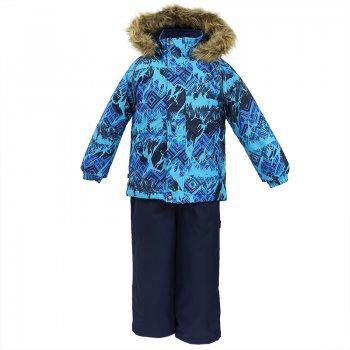 Комплект WINTER (голубой с принтом) от Huppa, арт: 44706 - Одежда