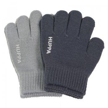 Фото - Huppa Вязаные перчатки LEVI 2 пары (серый с темно-серым) huppa huppa полукомбинезон flinn темно серый