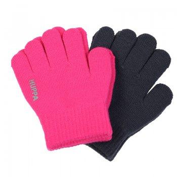 Вязаные перчатки LEVI 2 пары (розовый и серый)Одежда<br>; Размеры в наличии: 1, 2.<br>