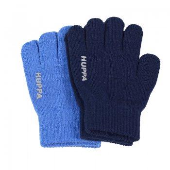 Вязаные перчатки LEVI2 (голубой с темно-синим)Одежда<br>; Размеры в наличии: 1, 2.<br>