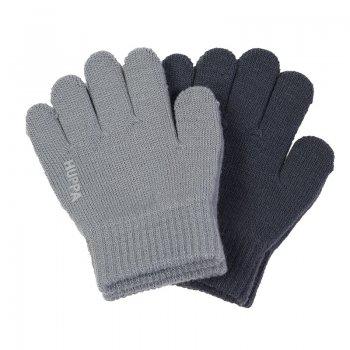 Вязаные перчатки LEVI2 (серый с темно-синим)Одежда<br>; Размеры в наличии: 1, 2.<br>
