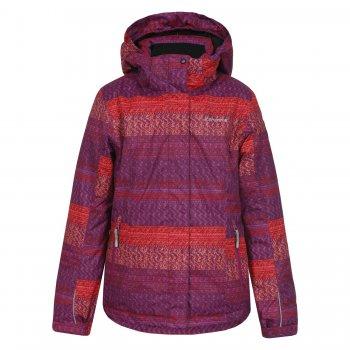 Куртка ROSIE JR (фиолетовый с розовым)Куртки<br>Материал:<br>Верх: 100% полиэстер.<br>Утеплитель: 180 грамм (100% полиэстер).<br>Подкладка: 100% полиэстер.<br>Водонепроницаемость: 5000 мм.<br>Паропроводимость: 2000 г/м2/24ч.<br>Износостойкость: нет данных.<br>Описание:<br>Функциональные элементы: <br>Производитель: Icepeak (Финляндия)<br>Страна производства: Китай<br>Модель производится в размерах: 116-176.<br>Коллекция: Осень-Зима 2016.<br>Температурный режим:<br>от 0 до -20 градусов.; Размеры в наличии: 128, 140, 152, 164, 176.<br>