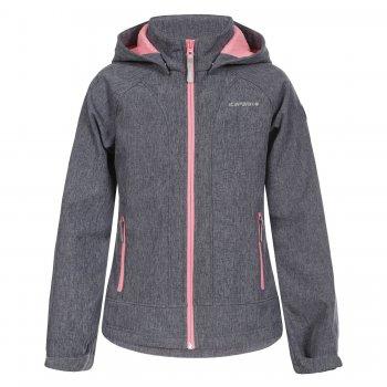 Куртка softshell 10 000 мм TILLY JR (серый с розовым)Куртки<br>Материал<br>Верх:100% полиэстер<br>Утеплитель: нет<br>Подкладка:100% полиэстер (флис)<br>Водонепроницаемость: 10000 мм.<br>Паропроводимость: 5000 г/м2/24ч<br>Износостойкость: нет данных<br>Описание<br>Куртка из материала Softshell - мягкого и приятного на ощупь: снаружи эластичный, ветро и влагозащитный слой, внутри флис. Softshell взял самое лучшее от куртки и от кофты - мягкость, тепло, защиту от воды и ветра. Одежда софтшелл всесезонна - весной и осенью ее можно носить как самостоятельную вещь при температуре от +5 до + 15 градусов. А зимой софтшелл можно использовать в качестве поддевы или для занятий спортом на открытом воздухе.<br>Функциональные элементы: капюшон отстегивается с помощью кнопок, регулируется по объему, карманы на молнии, манжеты на липучке, утяжка по подолу, светоотражающие элементы. <br>Производитель:Icepeak(Финляндия)<br>Страна производства:Китай<br>Коллекция Весна/лето 2017<br>Модель производится в размерах 128-176<br>Температурный режим<br>От +7 градусов и выше; Размеры в наличии: 140, 152, 164, 176.<br>