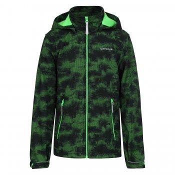 Куртка softshell THOMAS JR (темно-зеленый)Куртки<br>Материал<br>Верх: 100% полиэстер<br>Утеплитель: нет<br>Подкладка: 100% полиэстер (флис)<br>Водонепроницаемость: 3000 мм.<br>Паропроводимость: 3000 г/м2/24ч<br>Износостойкость: нет данных<br>Описание<br>Куртка из материала Softshell - мягкого и приятного на ощупь: снаружи эластичный, ветро и влагозащитный слой, внутри флис. Softshell взял самое лучшее от куртки и от кофты - мягкость, тепло, защиту от воды и ветра. Одежда софтшелл всесезонна - весной и осенью ее можно носить как самостоятельную вещь при температуре от +5 до + 15 градусов. А зимой софтшелл можно использовать в качестве поддевы или для занятий спортом на открытом воздухе.<br>Производитель: Icepeak(Финляндия)<br>Страна производства: Китай<br>Коллекция Весна/лето 2017<br>Модель производится в размерах 116-176<br>Температурный режим<br>От +7 градусов и выше; Размеры в наличии: 128, 140, 152, 164, 176.<br>