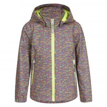 Куртка softshell RINA KD (разноцветный)Куртки<br>Материал<br>Верх: 100% полиэстер<br>Утеплитель: нет<br>Подкладка: 100% полиэстер (флис)<br>Водонепроницаемость: 3000 мм.<br>Паропроводимость: 3000 г/м2/24ч<br>Износостойкость: нет данных<br>Описание<br>Куртка из материала Softshell - мягкого и приятного на ощупь: снаружи эластичный, ветро и влагозащитный слой, внутри флис. Softshell взял самое лучшее от куртки и от кофты - мягкость, тепло, защиту от воды и ветра. Одежда софтшелл всесезонна - весной и осенью ее можно носить как самостоятельную вещь при температуре от +5 до + 15 градусов. А зимой софтшелл можно использовать в качестве поддевы или для занятий спортом на открытом воздухе.<br>Производитель: Icepeak (Финляндия)<br>Страна производства: Китай<br>Коллекция Весна/лето 2017<br>Модель производится в размерах 92-122<br>Температурный режим<br>От +7 градусов и выше; Размеры в наличии: 98, 104, 110, 116, 122.<br>