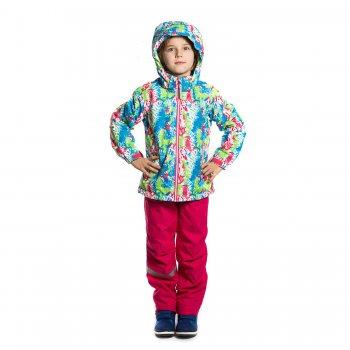 Комплект RONNA KD (розовый с принтом)Комбинезоны<br>Утепленный комплект для девочек на температуру от 0 до +10 градусов для активных деток и от +5 до +15 для малоподвижных. В куртке 80 грамм утеплителя, а в полукомбинезоне подкладка из материала притекс, который заменяет 40 грамм утеплителя. Модель хорошо садится на стройных деток.  При выборе размера, обратите внимание, что модель шьется с запасом на вырост  3 см. <br><br> Производитель: Icepeak(Финляндия)<br> Страна производства: Китай<br> Коллекция Весна/лето 2017<br> Модель производится в размерах 92-122<br>   Куртка: капюшон отстегивается с помощью кнопок, , защита подбородка от защемления, карманы на молнии, манжеты на липучке, утяжка по подолу, светоотражающие элементы. Брюки: регулируемые лямки, защитная планка молнии на липучке и на кнопке, пояс на резинке, карманы на молнии, подол штанин с утяжкой без фиксатора, светоотражающие элементы. <br> Верх: 100% полиэстер<br> Утеплитель: в куртке 80 грамм (100% полиэстер)<br> Подкладка: 100% полиэстер<br> Водонепроницаемость: 5000 мм.<br> Паропроводимость: 2000 г/м2/24ч<br> Износостойкость: нет данных<br><br> Температурный режим <br> От 0 градусов и выше; Размеры в наличии: 92, 98, 104, 110, 116, 122.<br>