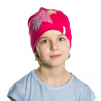 Шапка HOPI KD (розовый со звездами)Одежда<br>; Размеры в наличии: б/р.<br>
