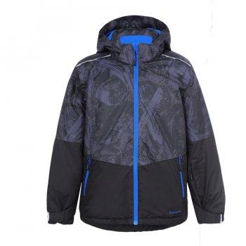 Куртка HUGO JR (серый камуфляж)Куртки<br>Материал<br>Верх: 100% полиэстер<br>Утеплитель: 160 грамм в теле, 140 грамм в рукавах (100% полиэстер)<br>Подкладка: 100% полиэстер<br>Уровень влагонепроницаемости: 5000 мм<br>Уровень воздухопроницаемости: 2000г/м2/24ч<br>Описание<br>Функциональные элементы: капюшон отстегивается с помощью кнопок, защита подбородка от защемления, карманы на молнии, манжеты на резинке и на липучке,  утяжка по подолу, снежная юбка. <br>Производитель: Icepeak (Финляндия)<br>Страна производства: Китай<br>Модель производится в размерах: 116-176.<br>Коллекция: Осень-Зима 2017.<br>Температурный режим: <br>от +5 до -10 градусов.<br>; Размеры в наличии: 116, 128, 140, 152, 164, 176.<br>