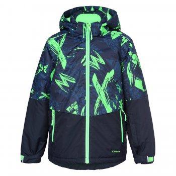 Куртка HUGO JR (черный с зеленым)Куртки<br>Материал<br>Верх: 100% полиэстер<br>Утеплитель: 160 грамм в телу куртки, 140 грамм в рукавах (100% полиэстер)<br>Подкладка: 100% полиэстер<br>Уровень влагонепроницаемости: 5000 мм<br>Уровень воздухопроницаемости: 2000г/м2/24ч<br>Описание<br>Функциональные элементы: <br>Производитель: Icepeak (Финляндия)<br>Страна производства: Китай<br>Модель производится в размерах: 116-176.<br>Коллекция: Осень-Зима 2017.<br>Температурный режим<br>от +5 до -10 градусов.; Размеры в наличии: 116, 128, 140, 152, 164, 176.<br>