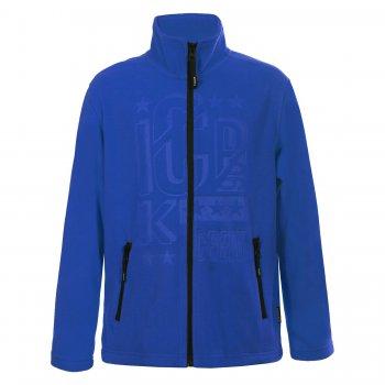 Флисовая кофта Rob (синий с рисунком)Одежда<br>Материал<br>Верх: 100% полиэстер (флис)<br>Описание<br>Функциональные элементы: <br>Производитель: Icepeak (Финляндия)<br>Страна производства: Китай<br>Модель производится в размерах: 116-176.<br>Коллекция: Осень-Зима 2017.<br>Температурный режим<br>От +15 градусов и выше. Либо в качестве поддевы под верхнюю одежду.<br>; Размеры в наличии: 116, 128, 140, 152, 164, 176.<br>