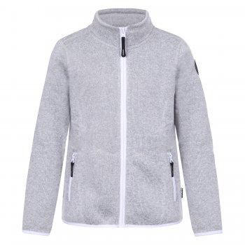 Флисовая кофта  Ruth (серый)Одежда<br>Производитель: Icepeak (Финляндия)<br> Страна производства: Китай<br> Модель производится в размерах: 116-176.<br> Коллекция: Осень-Зима 2017.<br>  <br> Верх: 100% полиэстер<br><br> Температурный режим <br> От +15 градусов и выше. Либо в качестве поддевы под верхнюю одежду.; Размеры в наличии: 116, 128, 140, 152, 164, 176.<br>