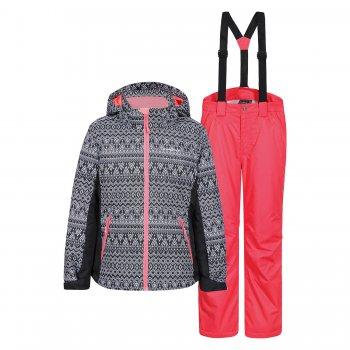 Комплект HADIA JR (черный с оранжевым)Комбинезоны<br>Производитель: Icepeak (Финляндия)<br> Страна производства: Китай<br> Модель производится в размерах: 116-176<br> Коллекция: Осень-Зима 2017.<br>  <br> Верх: 100% полиэстер<br> Утеплитель: 160 грамм по телу куртки, 140 грамм в рукавах, 100 грамм в брюках (100% полиэстер)<br> Подкладка: 100% полиэстер<br> Уровень влагонепроницаемости: 5000 мм<br> Уровень воздухопроницаемости: 2000г/м2/24ч<br><br> Температурный режим <br> от +5 до -10 градусов.<br>; Размеры в наличии: 128, 140, 152, 164, 176.<br>
