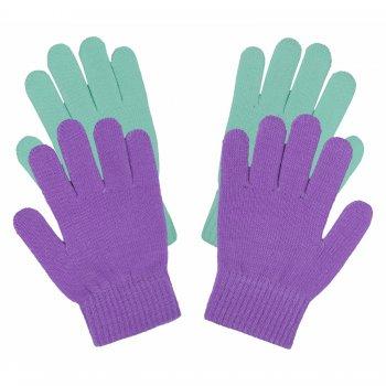 Перчатки 2 пары (фиолетовый с бирюзовым)Одежда<br>; Размеры в наличии: ONE.<br>