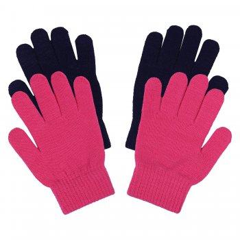 Перчатки 2 пары IVY JR (фиолетовый и розовый)Одежда<br>Материал: <br>Верх: 95% полиамид, 5% эластан.<br>Утеплитель: нет.<br>Подкладка: нет.<br>Описание: <br>Функциональные элементы: <br>Производитель: Icepeak (Финляндия)<br>Страна производства: Китай<br>Модель производится в размерах: 92-122.<br>Коллекция: Осень-Зима 2017.<br>Температурный режим: <br>от +5 до -10 градусов.<br>; Размеры в наличии: ONE SIZE.<br>