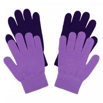 Перчатки 2 пары (фиолетовый)Одежда<br>; Размеры в наличии: ONE.<br>