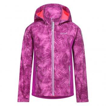 Куртка softshell Taila JR (фиолетовый)Куртки<br>Описание<br><br>Функциональные элементы: капюшон отстегивается с помощью кнопок, карманы на молнии, манжеты на липучке, утяжка по подолу с фиксатором, светоотражающие элементы.<br>Характеристики<br>Верх: 94% полиэстер, 6% эластан.<br>Подкладка: микро-флис  (плотность 280 г/м2)<br>Утеплитель: нет<br>Водонепроницаемость: 7000 мм<br>Паропроводимость: 3000 г/м2/24ч<br>Износостойкость: нет данных.<br>Производитель: Icepeak(Финляндия)<br>Страна производства: Китай<br>Модель производится в размерах: 116-176<br>Коллекция: Весна-Лето 2018<br>Температурный режим<br>От +7 градусов и выше.; Размеры в наличии: 128, 140, 152, 164, 176.<br>