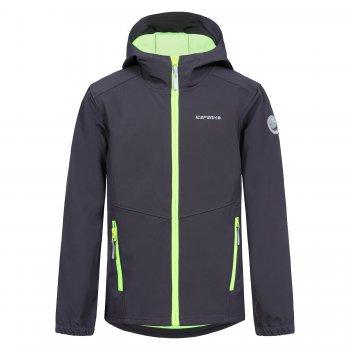 Куртка softshell Teiko JR (темно-серый)Куртки<br>Описание: <br><br>Функциональные элементы: капюшон не отстегивается, карманы на молнии, манжеты на резинке, светоотражающие элементы. <br>Характеристики: <br>Верх: 94% полиэстер, 6% эластан.<br>Подкладка: микро-флис  (плотность 280 г/м2)<br>Утеплитель: нет<br>Водонепроницаемость: 7000 мм<br>Паропроводимость: 3000 г/м2/24ч<br>Износостойкость: нет данных.<br>Производитель: Icepeak(Финляндия)<br>Страна производства: Китай<br>Модель производится в размерах: 116-176<br>Коллекция: Весна-Лето 2018<br>Температурный режим: <br>От +7 градусов и выше.; Размеры в наличии: 128, 140, 152, 164, 176.<br>