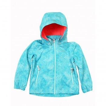Куртка softshell Rina KD (бирюзовый)Куртки<br>Описание<br><br>Функциональные элементы: капюшон отстегивается с помощью кнопок, карманы на молнии, манжеты на резинке, утяжка по подолу с фиксатором, светоотражающие элементы. <br>Характеристики<br>Верх: 94% полиэстер, 6% эластан.<br>Подкладка: микро-флис  (плотность 280 г/м2)<br>Утеплитель: нет<br>Водонепроницаемость: 7000 мм<br>Паропроводимость: 3000 г/м2/24ч<br>Износостойкость: нет данных.<br>Производитель: Icepeak(Финляндия)<br>Страна производства: Китай<br>Модель производится в размерах: 92-122<br>Коллекция: Весна-Лето 2018<br>Температурный режим<br>От +7 градусов и выше.; Размеры в наличии: 98, 104, 110, 116, 122.<br>