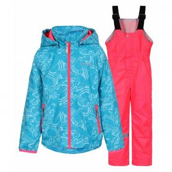Комплект Ronna KD (голубой с розовым)Комбинезоны<br>; Размеры в наличии: 92, 98, 104, 110, 116, 122.<br>