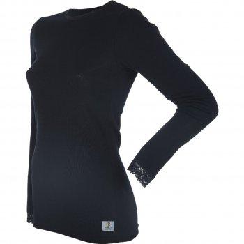 Джемпер женский DeLuxe (чёрный)Одежда<br>Материал<br>100% шерсть<br>Описание<br>Шерсть мериносов содержит ланолин (животный воск), который обладает антибактериальными действиями и является природным антисептиком. Шерсть мериносов не вызывает аллергию, хорошо поглощает и отводит влагу от тела, эффективно согревает и оказывает положительное влияние на организм.<br>Не рекомендуется брать термобелье с большим запасом из-за снижения эффективности материалов.<br>Обратите внимание: нижнее белье, колготки и носки обмену и возврату не подлежат в соответствии в законом РФ О защите прав потребителей.<br>Производитель: Janus (Норвегия)<br>Страна производства: Норвегия<br>Модель производится в размерах S-XL<br>Коллекция: Осень/Зима 2017<br>Температурный режим: <br>От 0 до -30; Размеры в наличии: XL, L, M, S.<br>