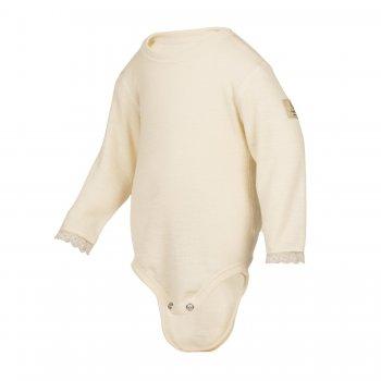 Боди с кружевом (белый)Одежда<br>Материал<br>94% шерсть 6% полиамид<br>Описание<br>Шерсть мериносов содержит ланолин (животный воск), который обладает антибактериальными действиями и является природным антисептиком. Шерсть мериносов не вызывает аллергию, хорошо поглощает и отводит влагу от тела, эффективно согревает и оказывает положительное влияние на организм.<br>Размер соответствует росту. Не рекомендуется брать термобелье с большим запасом из-за снижения эффективности материалов.<br>Обратите внимание: нижнее белье, колготки и носки обмену и возврату не подлежат в соответствии в законом РФ О защите прав потребителей.<br>Производитель: Janus (Норвегия)<br>Страна производства: Норвегия<br>Модель производится в размерах 70-90.<br>Коллекция: Осень/Зима 2016.<br>Температурный режим:<br>От +5 до -30; Размеры в наличии: 70, 80, 90.<br>