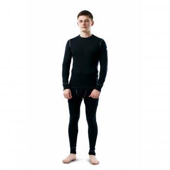 Комплект мужской (чёрный)Одежда<br>Материал<br>100% шерсть<br>Описание<br>Шерсть мериносов содержит ланолин (животный воск), который обладает антибактериальными действиями и является природным антисептиком. Шерсть мериносов не вызывает аллергию, хорошо поглощает и отводит влагу от тела, эффективно согревает и оказывает положительное влияние на организм.<br>Не рекомендуется брать термобелье с большим запасом из-за снижения эффективности материалов.<br>Обратите внимание: нижнее белье, колготки и носки обмену и возврату не подлежат в соответствии в законом РФ О защите прав потребителей.<br>Производитель: Janus (Норвегия)<br>Страна производства: Норвегия<br>Модель производится в размерах S-XL<br>Коллекция: Осень/Зима 2017<br>Температурный режим: <br>От 0 до -30; Размеры в наличии: M, XL, L, 2XL.<br>