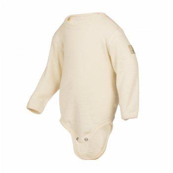 Боди (белый)Одежда<br>Материал<br>100% шерсть<br>Описание<br>Шерсть мериносов содержит ланолин (животный воск), который обладает антибактериальными действиями и является природным антисептиком. Шерсть мериносов не вызывает аллергию, хорошо поглощает и отводит влагу от тела, эффективно согревает и оказывает положительное влияние на организм.<br>Размер соответствует росту. Не рекомендуется брать термобелье с большим запасом из-за снижения эффективности материалов.<br>Обратите внимание: нижнее белье, колготки и носки обмену и возврату не подлежат в соответствии в законом РФ О защите прав потребителей.<br>Производитель: Janus (Норвегия)<br>Страна производства: Норвегия<br>Модель производится в размерах 70-90<br>Коллекция: Осень/Зима 2017<br>Температурный режим: <br>От 0 до -30; Размеры в наличии: 70, 80, 90.<br>