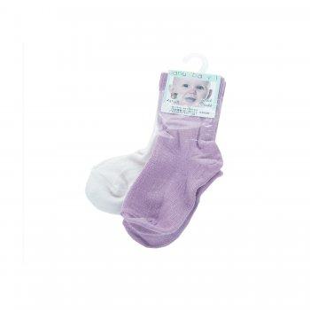 Носки для малышей 2 пары (сиреневый)Одежда<br>; Размеры в наличии: 20/24.<br>