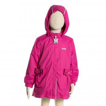 Куртка  OLIVIA (темно-розовый)Куртки<br>Материал<br>Верх: 100% полиамид<br>Подкладка: 100% полиэстер <br>Утеплитель:  80 грамм (100% полиэстер)<br>Водонепроницаемость: 5000 мм<br>Паропроводимость: 5000 г/м2/24ч<br>Описание<br> Куртка на межсезонье для девочек от 2 до 9 лет от известной финской фирмы Kerry. Легкий утеплитель 80 грамм прекрасно подойдет на температуру от  0...+10 градусов. Подкладка из флиса обеспечит тепло и комфорт, а удлиненная модель надежно защитит от продувания. Водонепроницаемость 5000 мм позволяет гулять в дождливую погоду. Модель идет в размер <br>Функциональные элементы: отстегивающийся капюшон на кнопках, ветрозащитная планка молнии, защита подбородка от защемления, два накладных кармана на кнопках, манжеты на резинке, утяжка по подолу, светоотражающие элементы<br>Производитель: Kerry (Финляндия)<br>Страна производства: Евросоюз (основная часть коллекции производится в Эстонии)<br>Коллекция: Весна/Лето 2017<br>Модель производится в размерах: 92-134<br>От 0 градусов и выше; Размеры в наличии: 98, 104, 110, 116, 122, 128, 134.<br>