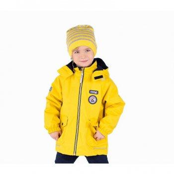 Куртка OCEAN (желтый)Куртки<br>Материал<br>Верх: 100% полиамид<br>Подкладка: 100% полиэстер <br>Утеплитель:  80 грамм (100% полиэстер)<br>Водонепроницаемость: 10 000 мм<br>Паропроводимость: 10 000 г/м2/24ч<br>Описание<br>Стильная куртка на межсезонье для мальчиков от 2 до 9 лет финской фирмы Kerry. Модель подойдет на температуру от 0 до + 10 градусов, для активного отдыха, занятия спортом и для пеших прогулок. Верхняя ткань  Active plus- водонепроницаемый и дышащий материал. В такой одежде можно смело гулять в пасмурною, дождливую погоду без риска промокнуть. Данная модель идет в размер.<br>Функциональные элементы: капюшон отстегивается с помощью кнопок, защита подбородка от защемления, карманы на кнопках, манжеты на резинке, утяжка по подолу, светоотражающие элементы. <br>Производитель: Kerry (Финляндия)<br>Страна производства: Евросоюз (основная часть коллекции производится в Эстонии)<br>Коллекция: Весна/Лето 2017<br>Модель производится в размерах: 92-134<br>От 0 градусов и выше; Размеры в наличии: 98, 104, 110, 116, 122, 128, 134.<br>
