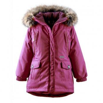 Kуртка MIRIAM (розовый)Куртки<br>Производитель: Kerry (Финляндия)<br> Страна производства: Евросоюз (основная часть коллекции производится в Эстонии)<br> Коллекция: Осень/Зима 2017-2018<br> Модель производится в размерах: 92-134<br>   капюшон не отстегивается, мех отстегивается, защитная планка молнии без застежек, защита подбородка от защемления, карманы на молнии, карманы на кнопках, манжеты на резинке, светоотражающие элементы.  <br> Верх: 100% полиэстер<br> Подкладка: 100% полиэстер<br> Утеплитель: 330 грамм (100% полиэстер Kerryfill)<br> Водонепроницаемость: 10000 мм<br> Паропроводимость: 10000 г/м2/24 часа<br><br> Температурный режим <br> От -5 до -30 градусов<br>; Размеры в наличии: 104, 110, 116, 122, 128, 134.<br>