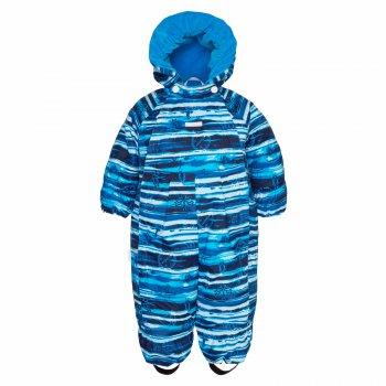 Комбинезон HAPPY (синий в полоску)Комбинезоны<br>Комбинезон для малышей от 3 месяцев до года от известной финской марки Kerry. Модель разработана с учетом потребностей самых маленьких: подкладка их 100% хлопка, отвороты для ручек и ножек, две длинные молнии. Легкий утеплитель 80 грамм подойдет на температуру от +5 до +15 градусов. А для детей постарше важным дополнением будет водонепроницаемость 5000 мм  - в таком комбинезоне можно смело гулять в дождливую погоду без риска промокнуть. Прочные трикотажные штрипки фиксирует штанины на обуви, исключая попадание влаги внутрь. <br><br>   капюшон не отстегивается, защитная планка молнии, карманов нет, отвороты, несъемные трикатожные штрипки, светоотражающие элементы, две удлиненных молнии.  <br> Верх: 100% полиамид<br> Подкладка: 80% хлопок, 20% полиэстер<br> Утеплитель: 80 грамм (100% полиэстер)<br> Водонепроницаемость: 5000 мм<br> Паропроводимость: 5000 г/м2/24ч<br> Производитель: Kerry (Финляндия)<br> Страна производства: Евросоюз (основная часть коллекции производится в Эстонии)<br> Модель производится в размерах: 62-80 <br> Коллекция: Весна/Лето 2018<br><br> Температурный режим <br> От 0 градусов и выше; Размеры в наличии: 68, 74, 80.<br>