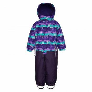 Комбинезон PALM (фиолетовый с цветами)Комбинезоны<br>; Размеры в наличии: 92, 98, 104, 110, 116, 122, 128.<br>