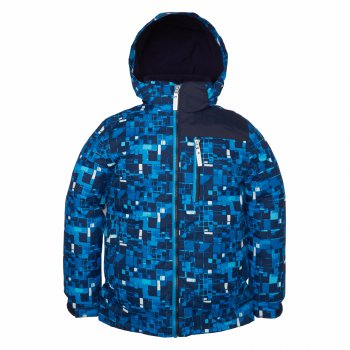 Куртка  TYLER (синий принт)Куртки<br>Описание<br>Функциональные элементы: капюшон отстегивается с помощью кнопок, карманы на молнии, манжеты на липучке, утяжка по подолу, светоотражающие элементы.<br>Характеристики: <br>Верх: ткань Active (100% полиамид+ 100 % полиэстер)<br>Подкладка: 100% полиэстер<br>Утеплитель: 80 грамм (100% полиэстер)<br>Водонепроницаемость: 5000 мм<br>Паропроводимость: 5000 г/м2/24ч<br>Производитель: Kerry (Финляндия)<br>Страна производства: Евросоюз (основная часть коллекции производится в Эстонии)<br>Модель производится в размерах: 140-170<br>Коллекция: Весна/Лето 2018<br>Температурный режим: <br>От 0 градусов и выше; Размеры в наличии: 140, 146, 152, 158, 164, 170.<br>