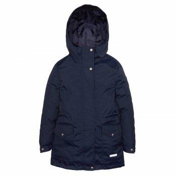 Куртка JOY (синий)Одежда<br>Описание<br>Стильная и практичная весенняя парка для девочек - подростков представлена в двух цветах - темно-синем и нежно-голубом. Она подойдет к любому наряду и не даст замерзнуть этой весной, ведь ее можно носить уже от 0 градусов.<br>Модель сочетает в себе функциональность и дизайн: множество утяжек и регулировок, высокая водонепроницаемость и простой, лаконичный крой. Кстати, большие размеры подойдут и мамам)<br>Функциональные элементы: капюшон не отстегивается, защитная планка молнии на кнопках, карманы на кнопках, манжеты на кнопках, утяжка на талии, утяжка по подолу, светоотражающие элементы. <br>Характеристики<br>Верх: ткань Active (100% полиамид)<br>Подкладка:100 % полиэстер<br>Утеплитель:  80 грамм (100% полиэстер)<br>Водонепроницаемость: 10000 мм<br>Паропроводимость: 10000 г/м2/24ч<br>Производитель: Kerry (Финляндия)<br>Страна производства: Евросоюз (основная часть коллекции производится в Эстонии)<br>Модель производится в размерах: <br>Коллекция: Весна/Лето 2018<br>Температурный режим<br>От 0 градусов и выше; Размеры в наличии: 140, 146, 152, 158, 164, 170.<br>