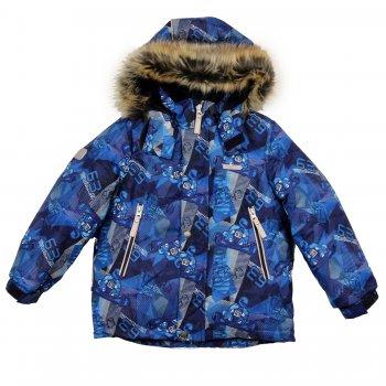 Куртка Alex (синий с принтом)