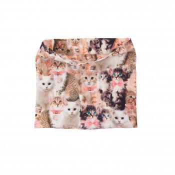 Шарф-манишка POP (разноцветный с котятами)Одежда<br>Описание<br>Функциональные элементы: <br>Характеристики<br>Верх: 92% хлопок, 8% эластан<br>Производитель: Kerry (Финляндия)<br>Страна производства: Евросоюз (основная часть коллекции производится в Эстонии)<br>Модель производится в размерах: <br>Коллекция: Весна/Лето 2018<br>Температурный режим<br>От +7 градусов и выше; Размеры в наличии: 1.<br>