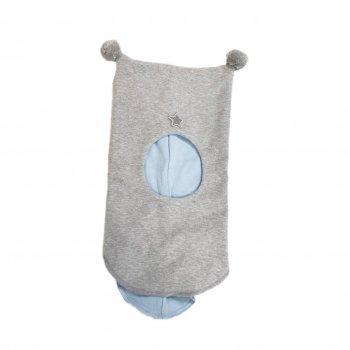 Шлем (светло-серый с помпонами)Одежда<br>Описание: <br><br>Функциональные элементы:<br>Характеристики: <br>Верх: 100% хлопок<br>Подкладка: 100% хлопок<br>Производитель: Kivat (Финляндия)<br>Страна производства: Финляндия<br>Модель производится в размерах: 0 (0-1 год), 1 (1-2 года), 2 (2-5 лет)<br>Коллекция: Весна/Лето 2018.<br>Температурный режим: <br>От +0 градусов и выше <br>; Размеры в наличии: 0, 1, 2.<br>