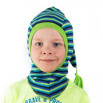 Шлем (зеленый в полоску)Одежда<br>Материал<br>Верх: 100% хлопок<br>Подкладка: 100% хлопок<br>Описание<br>Шапки Киват сделаны из высококачественных натуральных материалов. Изделие прочное в носке и легкое в уходе. Отличная посадка по голове и оригинальный дизайн. <br>Производитель: Kivat (Финляндия)<br>Страна производства: Финляндия<br>Коллекция: Весна/Лето 2016<br>Модель производится в размерах: 0 (0-1 год), 1 (1-2 года), 2 (2-5 лет)<br>Температурный режим<br>От 0 градусов и выше; Размеры в наличии: 0, 1, 2.<br>